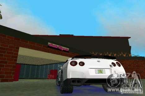 Nissan GT-R Spec V 2010 v1.0 para GTA Vice City visión correcta