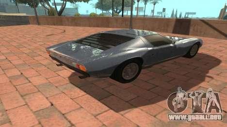 Lamborghini Miura P400 SV 1971 V1.0 para GTA San Andreas vista hacia atrás