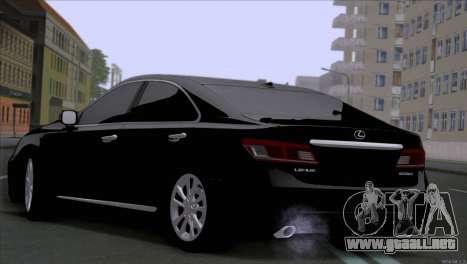 Lexus ES350 para GTA San Andreas vista posterior izquierda