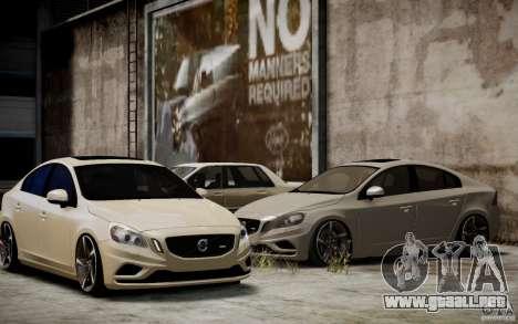 Volvo S60 R-Design 2011 para GTA 4 vista lateral