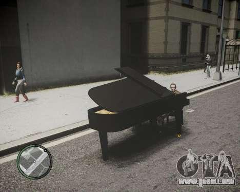 Crazy Piano para GTA 4 Vista posterior izquierda