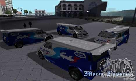 Ford Transit Supervan 3 2004 para GTA San Andreas vista hacia atrás