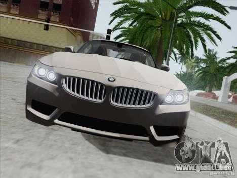 BMW Z4 2011 para visión interna GTA San Andreas