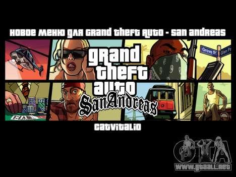 Nuevo menú de CatVitalio para GTA San Andreas