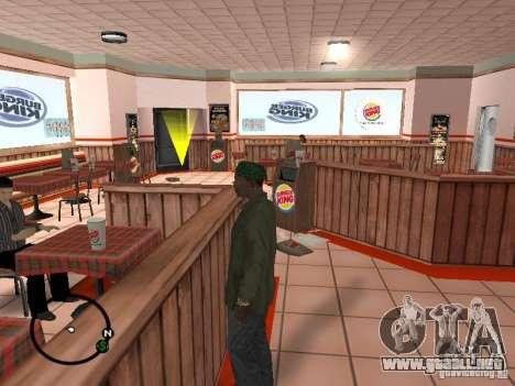 Nuevos restaurantes de texturas para GTA San Andreas segunda pantalla