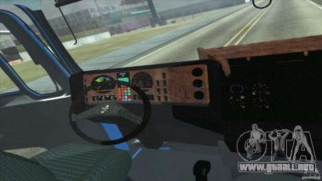 Man F2000 para GTA San Andreas vista hacia atrás