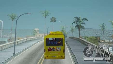 Mercedes-Benz Citaro G para GTA San Andreas vista posterior izquierda