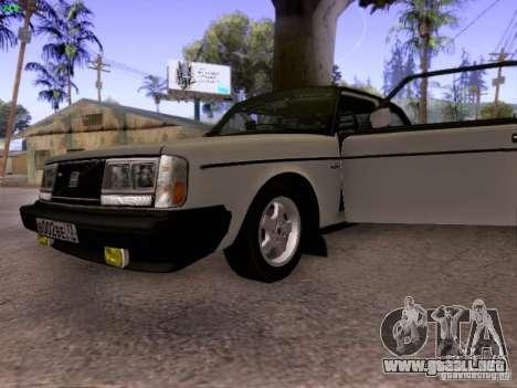 Volvo 242 Turbo para GTA San Andreas vista hacia atrás
