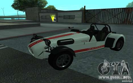 Caterham R500 para GTA San Andreas vista hacia atrás