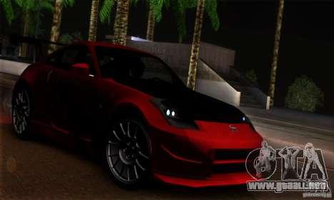 Nissan 350Z Tunable para vista lateral GTA San Andreas