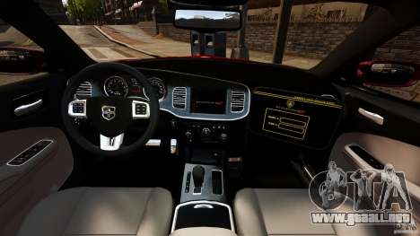 Dodge Charger RT Max FBI 2011 [ELS] para GTA 4 vista hacia atrás