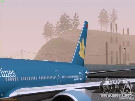 Boeing 777-2Q8ER Vietnam Airlines para GTA San Andreas interior