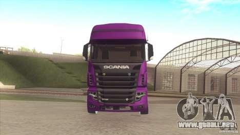 Scania Euro 5 R700 V8 para GTA San Andreas left