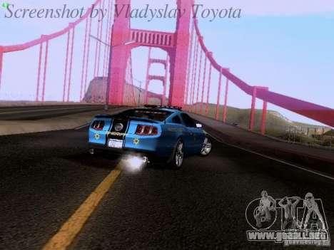 Ford Mustang GT 2011 Police Enforcement para visión interna GTA San Andreas
