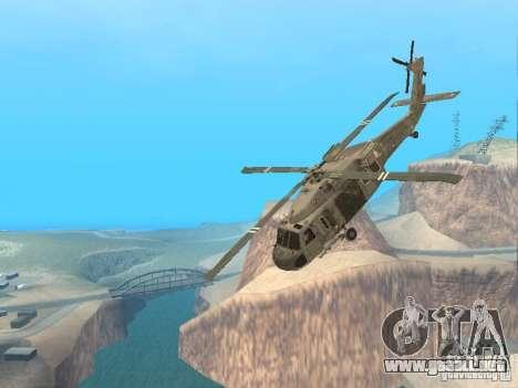 El UH-60 de COD MW3 para vista lateral GTA San Andreas