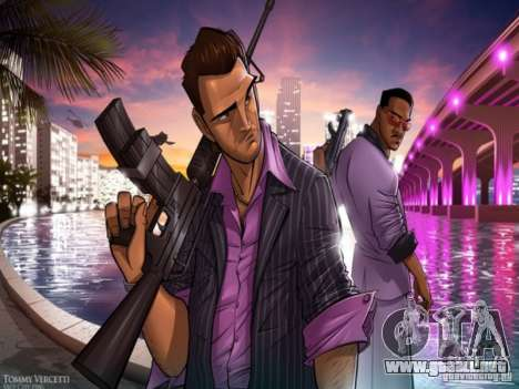 Pantalla de arranque de Vice City para GTA San Andreas