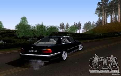 BMW 730i E38 para la vista superior GTA San Andreas