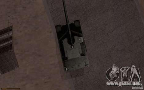 Bat. Chat. 155 SPG para GTA San Andreas vista posterior izquierda