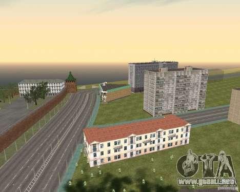Nižegorodsk v0.1 BETA para GTA San Andreas sucesivamente de pantalla