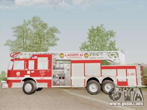 Pierce Arrow LAFD Ladder 43 para vista inferior GTA San Andreas
