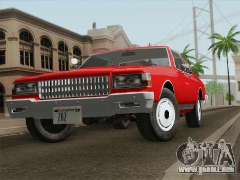 Chevrolet Caprice 1986 para la visión correcta GTA San Andreas