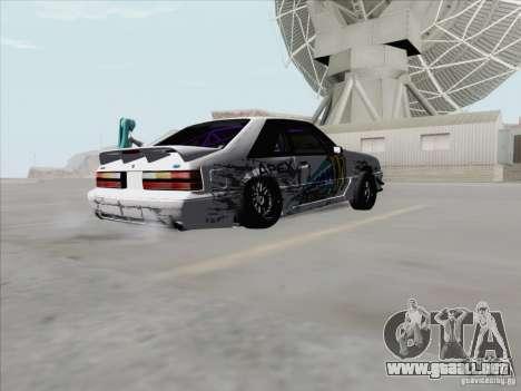 Ford Mustang Drift para la visión correcta GTA San Andreas