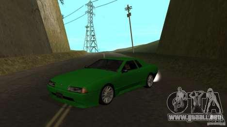 Elegy para GTA San Andreas vista posterior izquierda