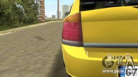 Opel Vectra para GTA Vice City vista interior