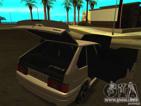 ВАЗ 2114 para GTA San Andreas vista hacia atrás
