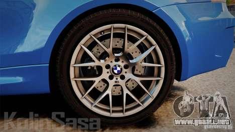BMW 1M 2011 Carbon para GTA 4 vista lateral
