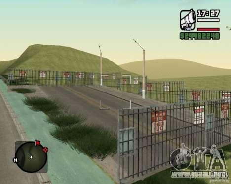 Gosport Road-Nižegorodsk para GTA San Andreas sexta pantalla