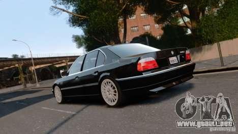 BMW 740I 1998 para GTA 4 left