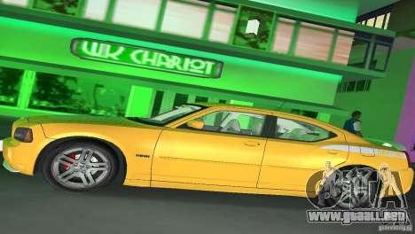Dodge Charger RT para GTA Vice City vista posterior