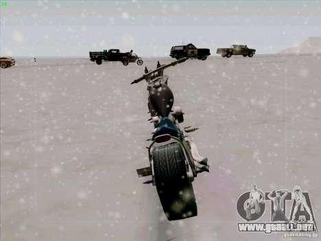 Harley para GTA San Andreas vista hacia atrás