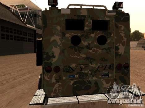 Lenco Bearcat NYPD para la visión correcta GTA San Andreas