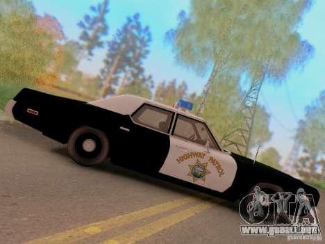 Dodge Monaco 1974 California Highway Patrol para la visión correcta GTA San Andreas