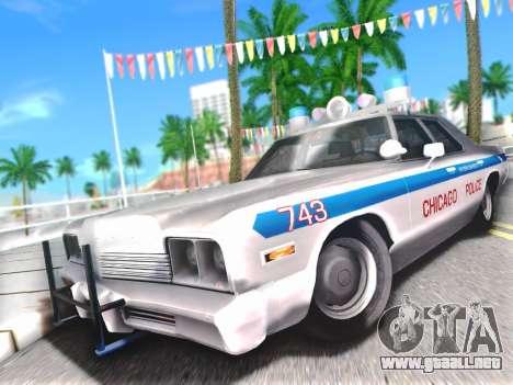 Dodge Monaco 1974 para vista lateral GTA San Andreas