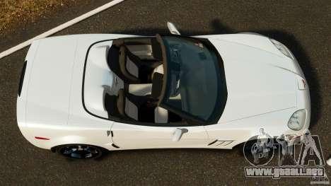 Chevrolet Corvette C6 2010 Convertible para GTA 4 visión correcta