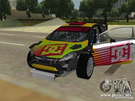 Ford Fiesta H.F.H.V. Ken Block Gymkhana 5 para vista lateral GTA San Andreas