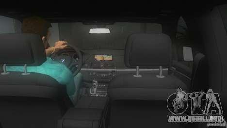 BMW X5 para GTA Vice City vista posterior