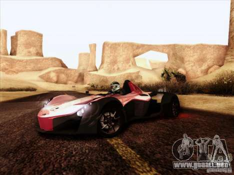 BAC MONO para GTA San Andreas vista hacia atrás