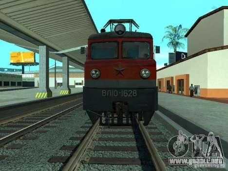 Vl10-1628 RZD para GTA San Andreas vista posterior izquierda