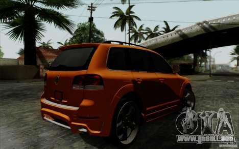 Volkswagen Touareg R50 Light para GTA San Andreas vista hacia atrás