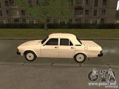 Volga GAZ 31013 para GTA San Andreas vista posterior izquierda