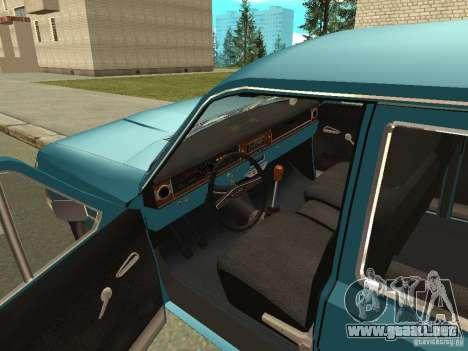 Volga GAZ 24-12 para GTA San Andreas vista hacia atrás