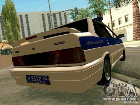 VAZ 2115 policía para GTA San Andreas left