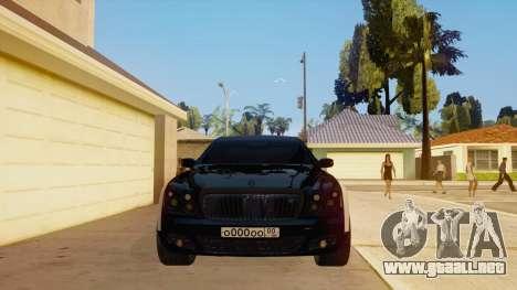 Maybach 62 para visión interna GTA San Andreas