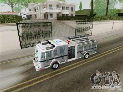 Pierce Pumpers. B.C.F.D. FIRE-EMS para el motor de GTA San Andreas
