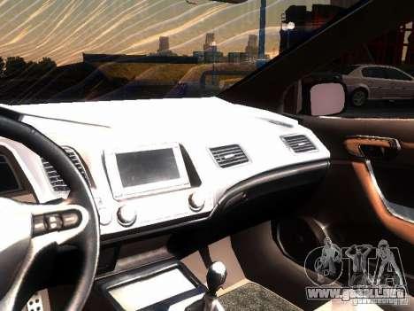 Honda Civic Si 2007 para visión interna GTA San Andreas
