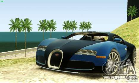 Bugatti Veyron para GTA San Andreas left